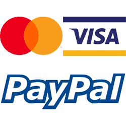 ACCEPTED PAYMENT mastercard visa paypal logo